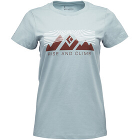 Black Diamond Rise And Climb - T-shirt manches courtes Femme - bleu